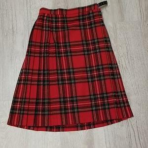 Kilt. Vintage. 100% wool. Vintage . Red Tartan